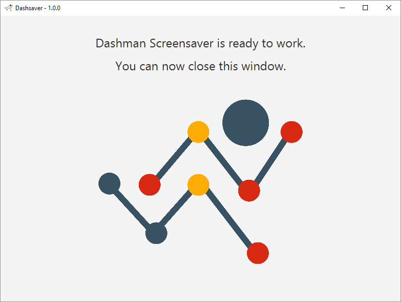 Dashman - screensaver ready to work