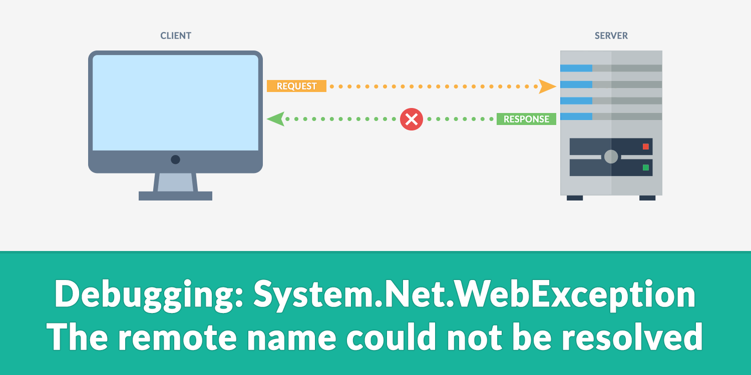 Debugging: System.Net.WebException - The remote name could not be resolved