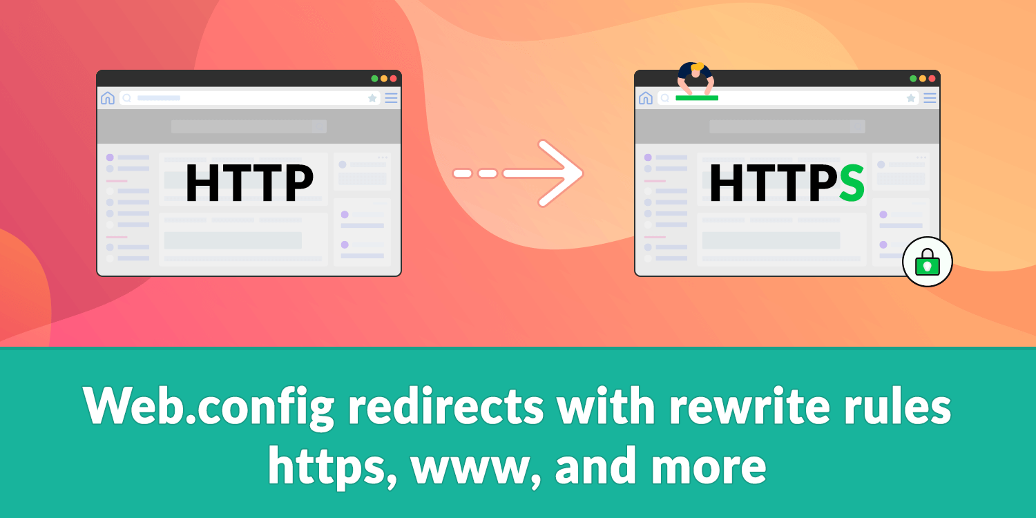Web config redirects with rewrite rules - https, www, and
