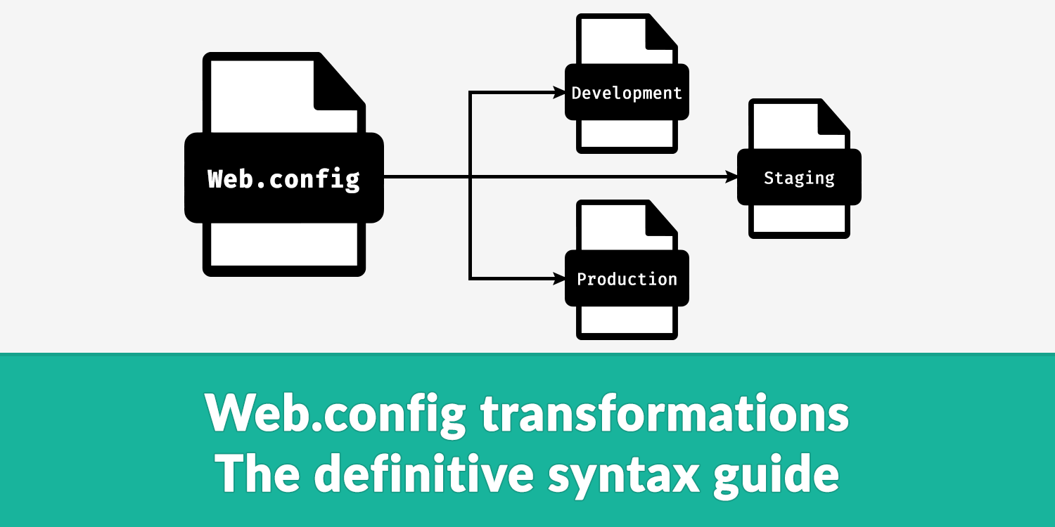 Web config transformations - The definitive syntax guide