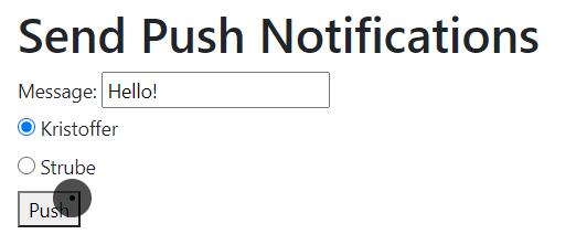 Push notification view