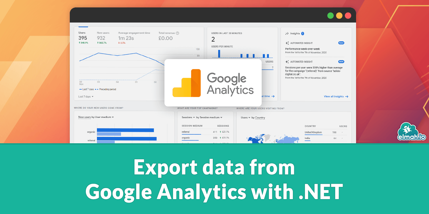Export data from Google Analytics with .NET