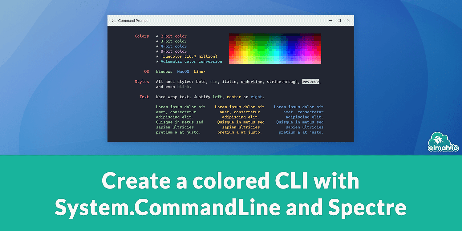 Create a colored CLI with System.CommandLine and Spectre 🎨