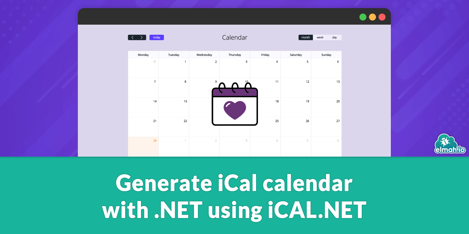 Generate iCal calendar with .NET using iCAL.NET