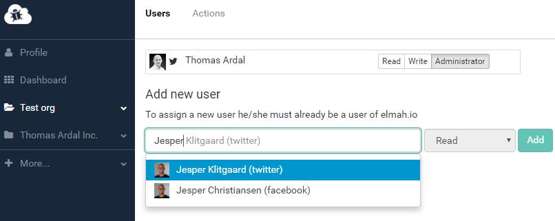 Organization user admin